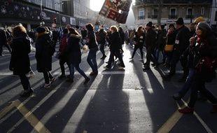 Manifestation le 10 décembre 2019 à Paris contre la réforme des retraites.