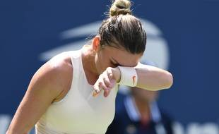 La numéro 1 mondiale Simona Halep a perdu au premier tour de l'US Open, le 27 août 2018.