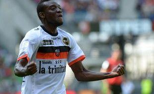 Le joueur de Lorient Alain Traoré auteur d'un doublé contre Rennes, le 16 septembre 2012.
