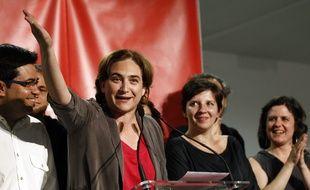 L'«indignée» Ada Colau brigue la mairie de Barcelone, le 24 mai 2015.