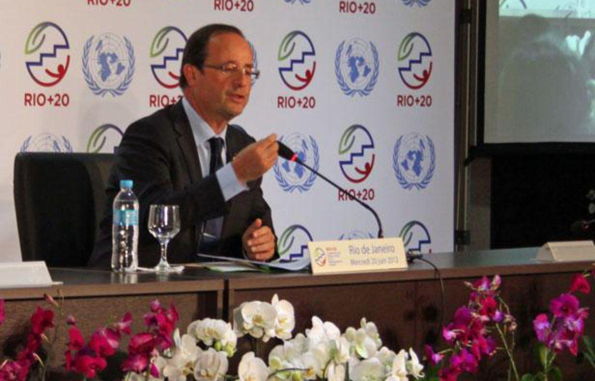 François Hollande au sommet Rio+20, le 20 juin 2012. – A.Chauvet - 20 Minutes