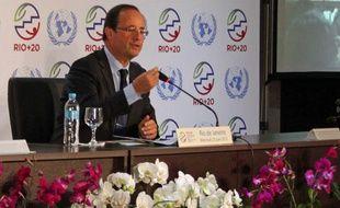 François Hollande au sommet Rio+20, le 20 juin 2012.