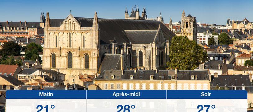 Météo Poitiers: Prévisions du lundi 24 juin 2019
