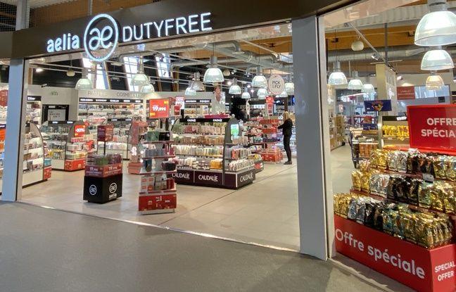Magasin duty free à l'aéroport de Bordeaux Mérignac.