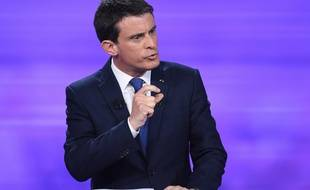 Manuel Valls lors du dernier débat de la primaire à gauche.