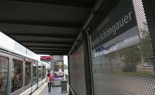 Strasbourg le 14 octobre 2016. Station tram Marin Schongauer à l'Elsau.