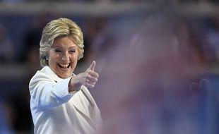Hillary Clinton lors de la convention démocrate à Philadelphie, aux Etats-Unis, le 28 juillet 2016.