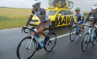 Jean-Chrisophe Péreaud avait terminé 2e du Tour 2014. (AP Photo/Sebastien Boue, Pool)/PDJ156/145241446949/1507082011
