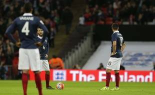 Les Bleus n'avaient pas la tête au foot, lors d'Angleterre-France en amical, le 17 novembre 2015 à Wembley.