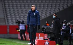 Thomas Tuchel, lors de Lille-PSG le 20 décembre 2020.