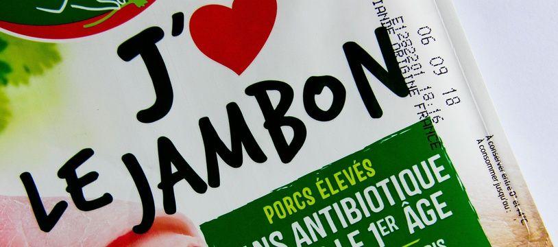 Un paquet de jambon Fleury Michon (image d'illustration).