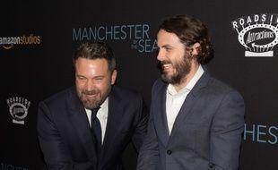 Les acteurs Ben et Casey Affleck à la première de Manchester by the Sea à Beverly Hills