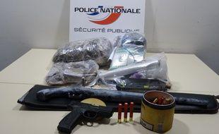 La saisie effectuée par la police quartier Bellevue