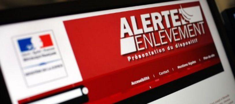 Photo prise le 28 août 2012 à Paris du site internet du ministère de la Justice présentant le dispositif «Alerte enlèvement».