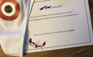 Tous les ans la mairie de Baillargues offre un cadeau original aux administrés.