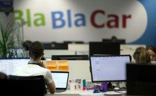 Les bureaux de BlaBlaCar à Paris le 17 avril 2015