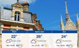 Météo Amiens: Prévisions du mardi 25 juin 2019
