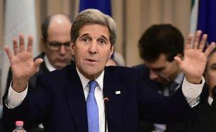 Le secrétaire d'Etat américain John Kerry, à Romme, le 2 février 2016