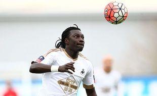 Bafétimbi Gomis sous le maillot de Swansea.