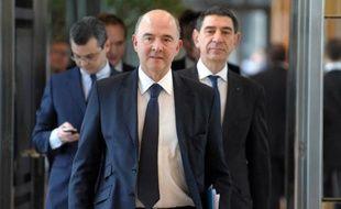 Le ministre de l'Economie Pierre Moscovici à Bercy, le 25 février 2014
