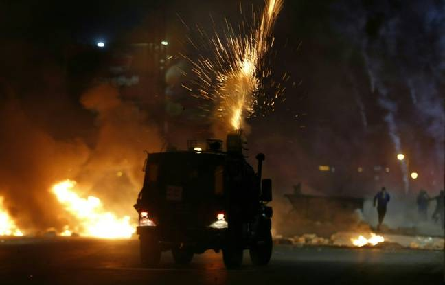 648x415 soldats israeliens tirent gaz lacrymogenes manifestants palestiniens colonie juive pres ramallah cisjordanie 11 mai 2021