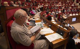 Premier jour de travail pour la convention citoyenne pour le climat, ce vendredi 4 octobre au Conseil économique, social et environnemental (Cese).