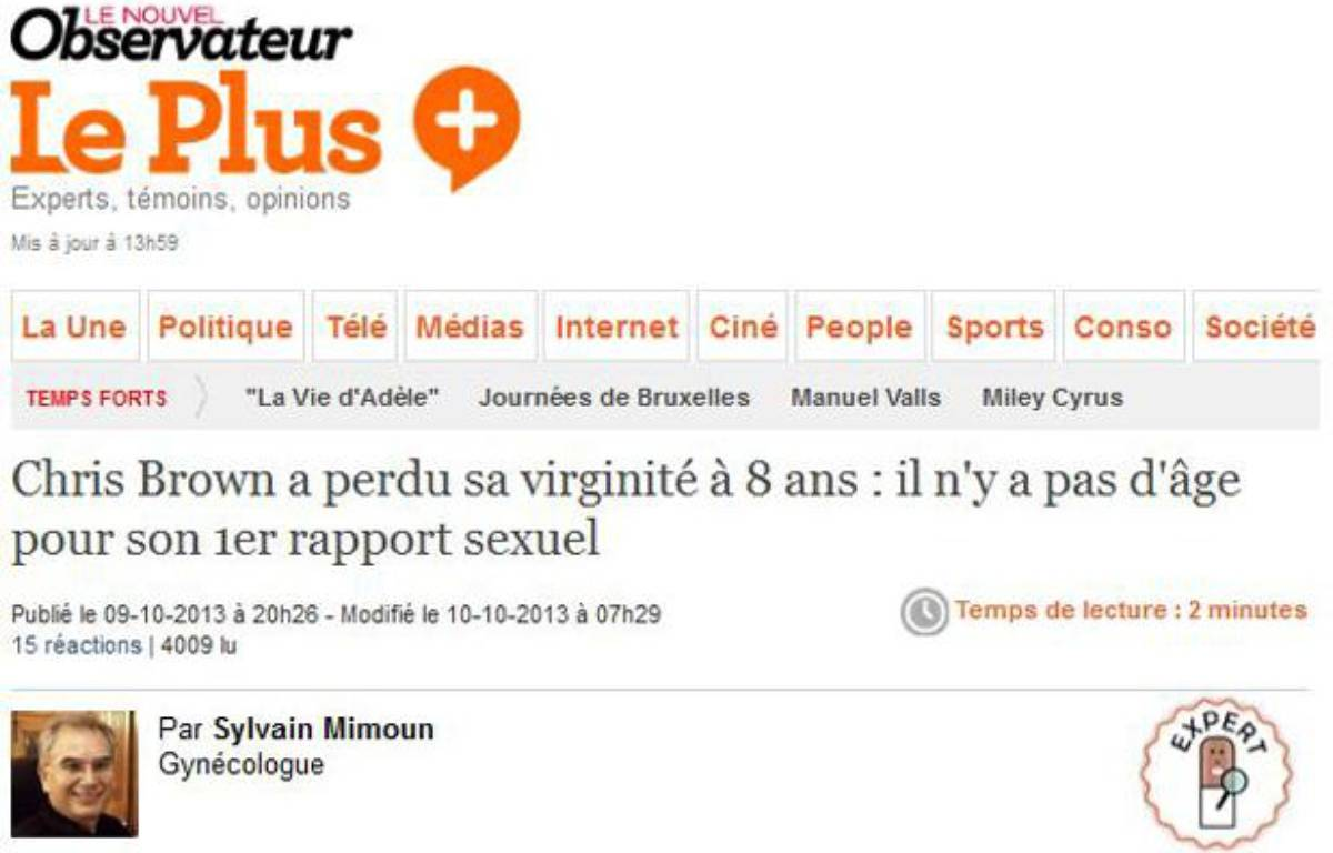 Capture d'écran du site du Plus, le 11 octobre 2013. – 20 MINUTES