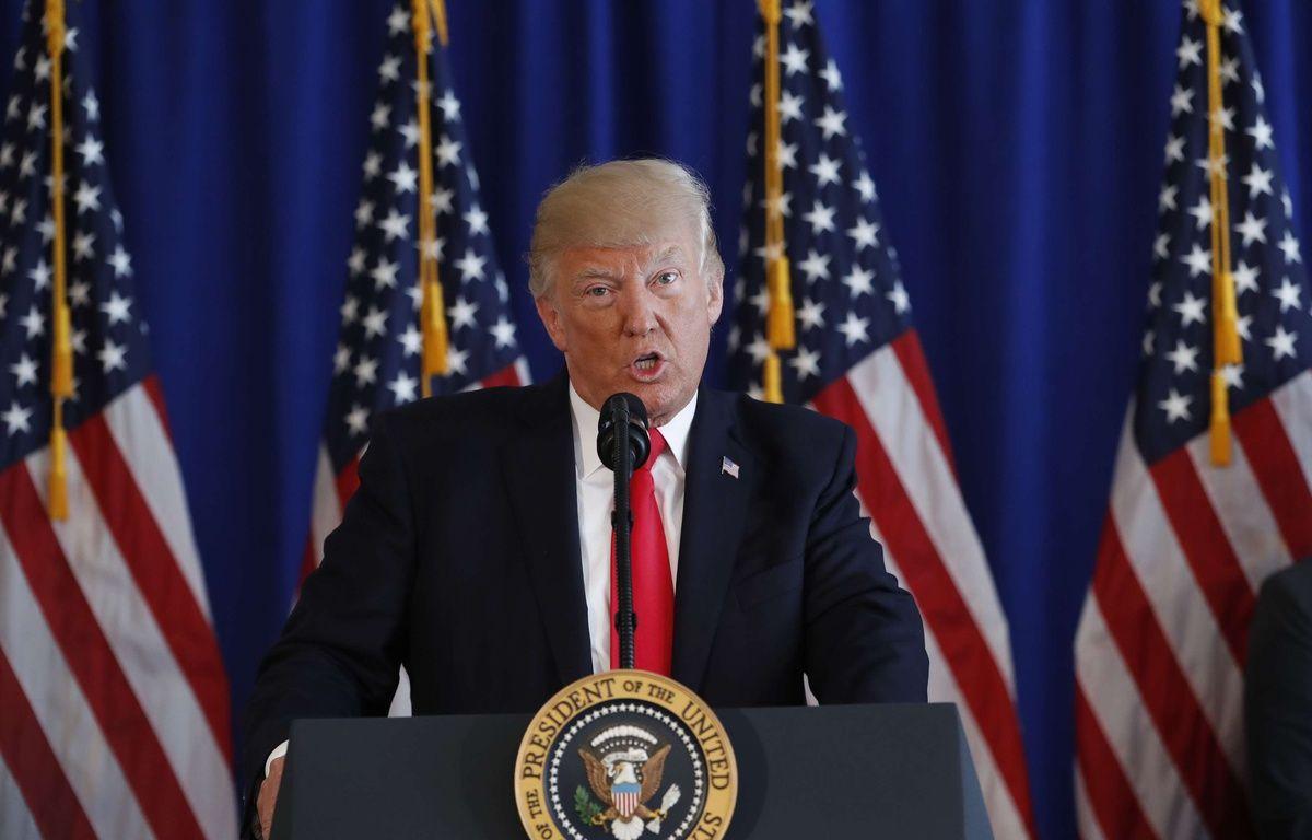 Donald Trump, le 12 août 2017, à Bedminster (Etats-Unis). – Pablo Martinez Monsivais/AP/SIPA