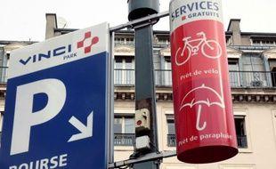 Un parking Vinci à Marseille