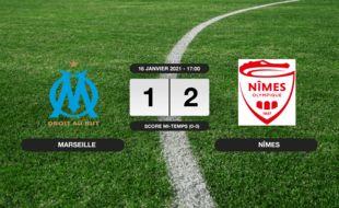 OM - Nîmes: Succès 1-2 de Nîmes face à l'OM