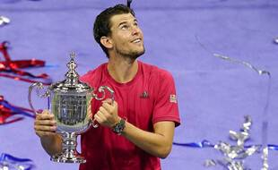 Dominic Thiem lors de sa victoire à l'US Open, à New York le 13 septembre 2020.