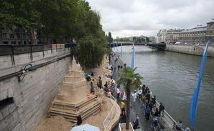 Le 21 juillet 2011. Ouverture de l'edition 2011 de Paris Plage. // V. WARTNER /  20 MINUTES
