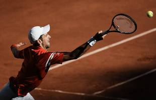 Le Serbe Novak Djokovic en finale de Roland-Garros, dimanche 13 juin 2021, à Paris.
