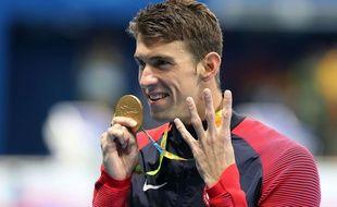 Michael Phelps le 11 août 2016 aux JO de Rio.