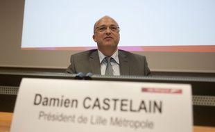 Le président de la MEL Damien Castelain.
