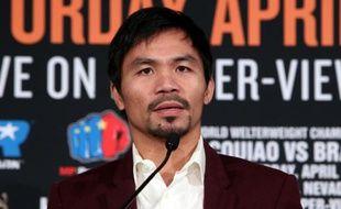 Le boxeur philippin Manny Pacquiao, le 19 janvier 2016 à Beverly Hills