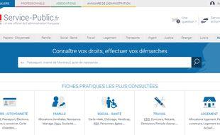 Capture d'écran du site officiel service-public.fr.