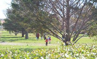 Le parc Montcalm, à Montpellier.