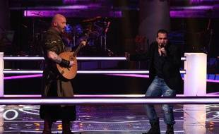 Luc Arbogast et Thomas Vaccari dans «The Voice».
