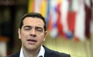 Le Premier ministre grec Alexis Tsipras à Bruxelles, le 10 juin 2015