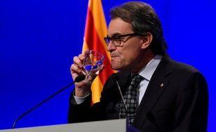 Le président catalan sortant, Artur Mas, à Barcelone le 5 janvier 2016