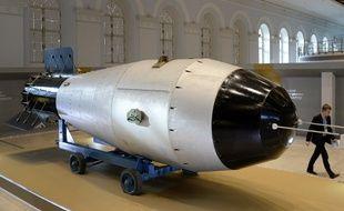 La bombe AH602, la « Tsar Bomba », exposée à Moscou.