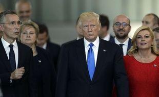 Donald Trump lors de sa visite officielle à Bruxelles le 25 ma 2017