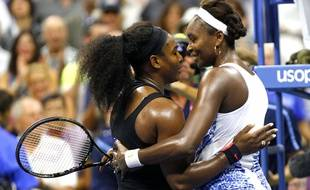 Serena et Venus Williams à l'US Open en 2015.