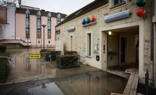 Le 23 janvier 2018, crue de la Seine entre Almont et Melun