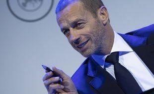 Le président de l'UEFA, Aleksander Ceferin, le 3 mars 2020.
