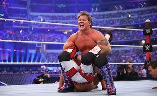 Chris Jericho pratique une prise bien douloureuse sur AJ Style lors du Wrestlemania 32 le 3 avril 2016