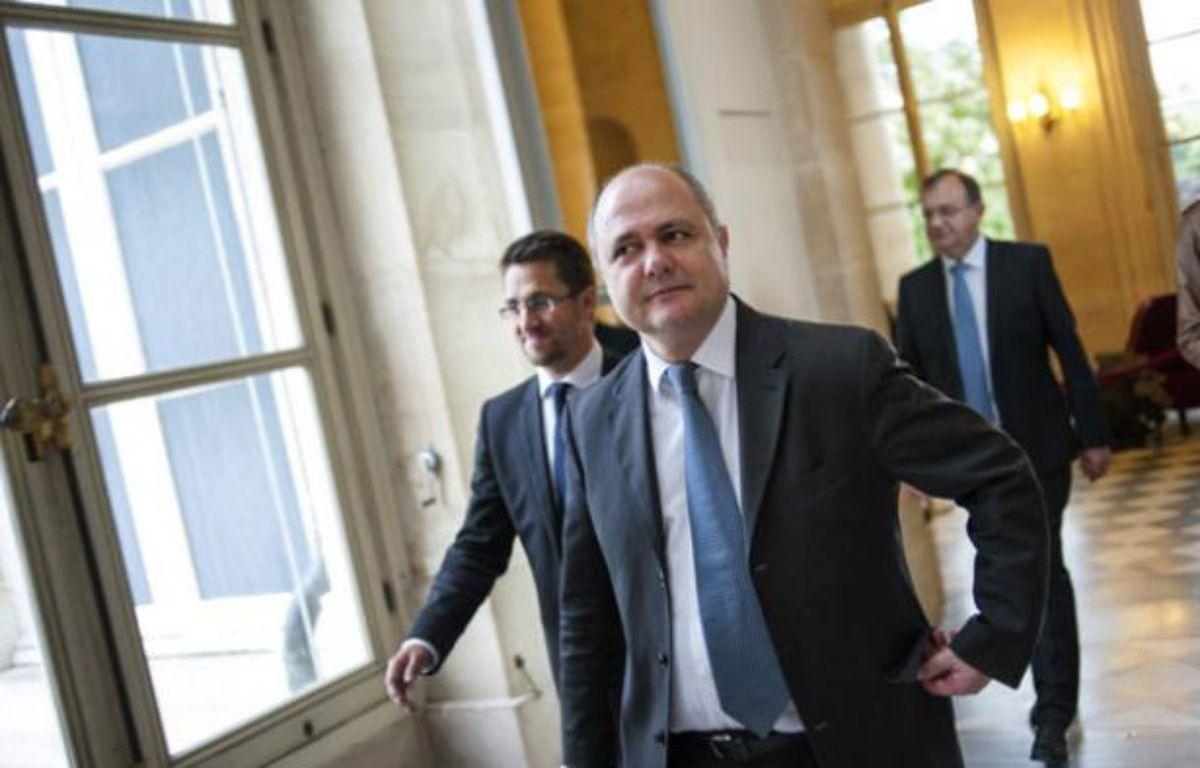 Bruno Le Roux, dans les couloirs de l'Assemblée nationale, le 17 juin 2012. – F. DUFOUR / AFP