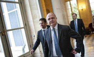 Bruno Le Roux, dans les couloirs de l'Assemblée nationale, le 17 juin 2012.