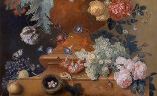 «Vase de fleurs dans un vase en terre cuite», de  Jan Van Huysum.